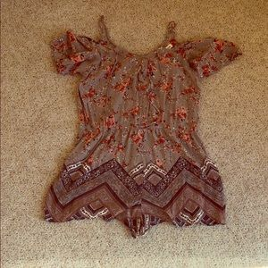 Chloe and Katie floral romper